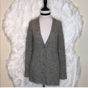 Trina Turk Metallic Knit Alpaca Cardigan
